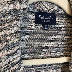 Splendid Sweaters - Splendid Tweed Textured Sweater Jacket